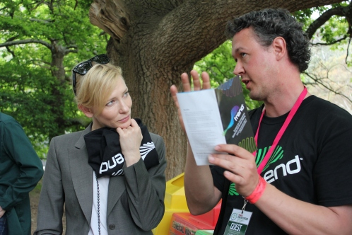 Cate Blanchett and Andy at WOMAD Earth Station Festival 2011