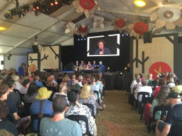 Andy Lowe speaking at WOMADelaide Planet Talks 2019